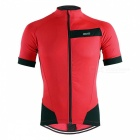 ARSUXEO Outdoor Sports Cycling Short Sleeves Men's Jersey - Red (XL)