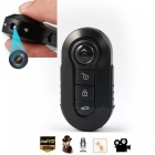 1080P Car Key Remote Control Camera w/ Infrared Night Vision - Black