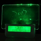 BSTUO Clapping Control Green Back Light Talking Message Board Clock