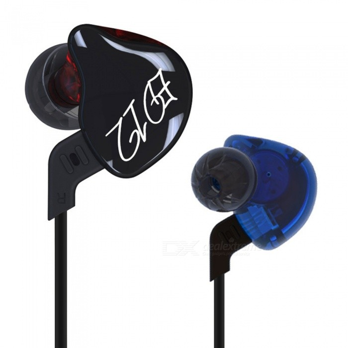 KZ ED12 HiFi Stereo Metal In-Ear Wired Earphone - Black (Without Mic)