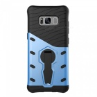 Protective Back Case w/ Holder for Samsung S8 - Black + Blue