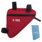 B-SOUL Outdoor Cycling Quick-Release Triangular Bike Bicycle Bag - Red