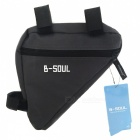 B-SOUL Outdoor Cycling Quick-Release Triangular Bike Bicycle Bag -Gray