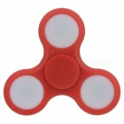 BLCR Tri-Spinner Fidget Toy EDC Hand Spinner w/ LED Light - Red