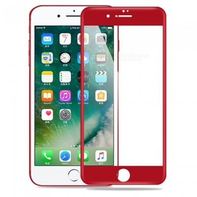 9H Tempered Full Screen Film Glass for IPHONE 7 PLUS - Red