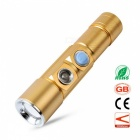 ZHISHUNJIA USB XP-E Q5 White + Red LED Focusing Flashlight - Golden
