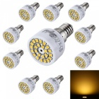 YouOKLight E14 3W 24-2835 SMD LED-warme weiße Glühlampen (10PCS)