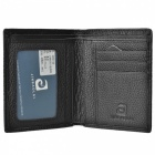 JIN BAO LAI Classic Mini Short Men's Leather Wallet - Black