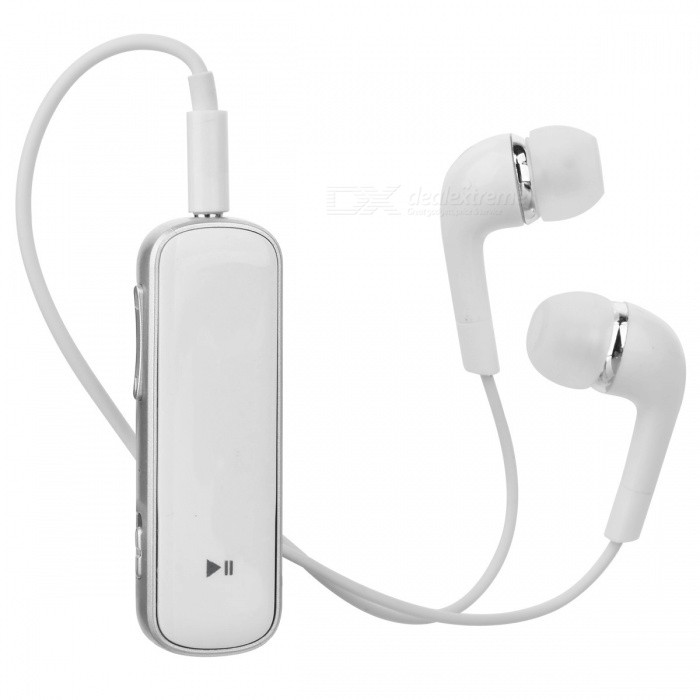 Cwxuan H60 Bluetooth v4.1 Stereo Business In-ear Earphone - White