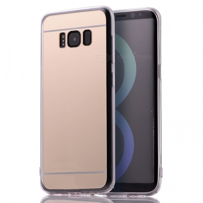 TPU + PC Mirror Back Case Cover for Samsung Galaxy S8TPU Cases<br>Form  ColorGoldenModelS8-MQuantity1 DX.PCM.Model.AttributeModel.UnitMaterialOthers,TPU + PCShade Of ColorGoldCompatible ModelsSamsung Galaxy S8DesignSolid Color,With Anti Dust PlugStyleBack CasesPacking List1 x Case<br>