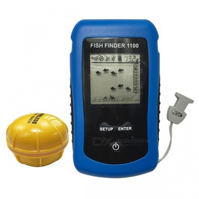 ffw1100 wireless color fish finder for shore fishing