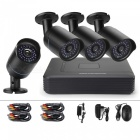 Cotier New 1MP P2P 4CH DVR CCTV System Bullet Cameras w/ Night Vision