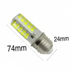 YWXLight E27 5W 80LED Cold White Dimmable LED Silica Gel Lampe à maïs
