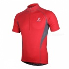 ARSUXEO 665 Sports Running Cycling Short-Sleeved Jersey - Red (XXL)
