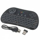 BLCR P9 Mini Backlight 2.4GHz Wireless Keyboard w/ Touchpad - Black