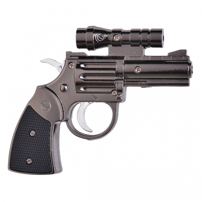 Latest Creative Revolver Shaped Windproof Lighter w/ IR Sight