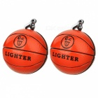 Stylish Basketball Shaped Outdoor Butane Gas Lighters w/ Keychains