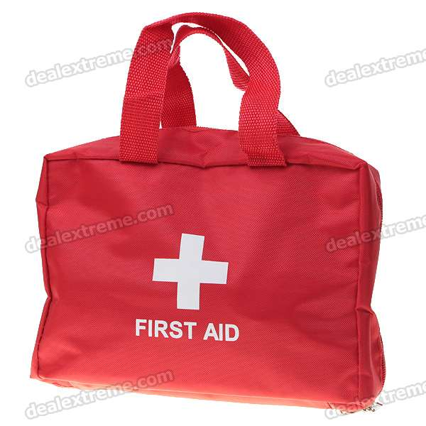 Outdoor Emergency First Aid Kit Bag with 3 Compartments