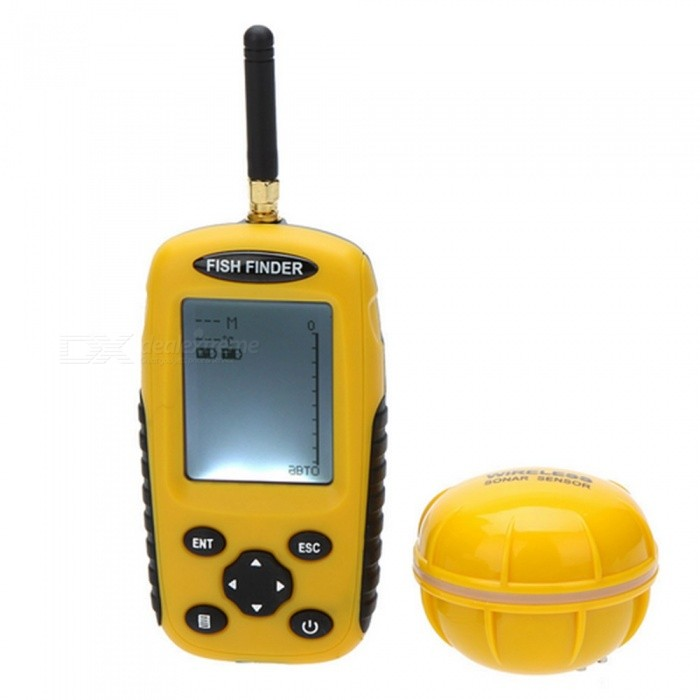 Dot Matrix LCD Rechargeable Depth Fishing Sonar Wireless Fish Finder