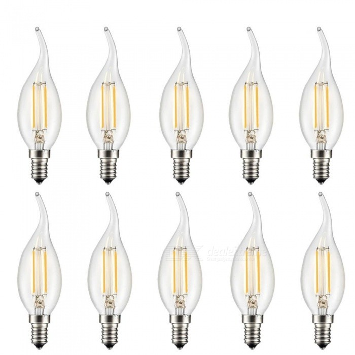 KWB C35T Retro Edison Light E14 2W LED Bulbs Lamps (220~240V / 12PCS)