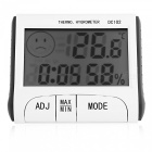 DC-102 4 in 1 Digital Thermometer / Hygrometer / Clock / Alarm - White