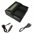 Ismartdigi BP930 Yhdysvaltain LCD Dual laturi w / Auto Charge Cable Canon