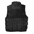 Outdoor Multi-Pocket Nylon-kangas CS Tactical Adjustable Vest - Musta