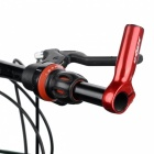 MZYRH Latest Aluminum Alloy 3D Claw Bike Handlebar - Red (1 Pair)