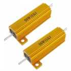 Gold Tone Screw Tabs Aluminum Housed 50W 5% 15Ohm Resistors (2PCS)