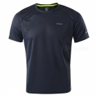 ARSUXEO Quick Dry Short-Sleeved Men's Running T-Shirt - Dark Grey (M)