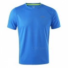ARSUXEO Outdoor Sports Leisure Short Sleeves Men's T-Shirt - Blue (L)