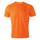 ARSUXEO Men's Running Short Sleeves T-shirt - Flourescent Orange (XXL)