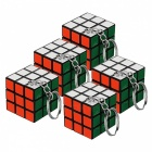 Rubik's Cube Keychain - Multi-Colored (5 PCS)