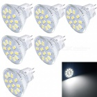 YouOKLight MR11 3W 12-LED 5733-SMD Cold White Light Bulbs (6 PCS)