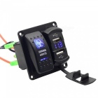 CS-512B1 DC12~24V 4.2A Car Yacht Switch Phone Charger w/ Voltmeter