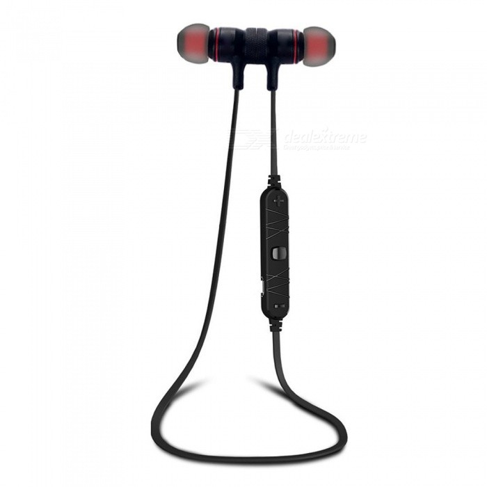 Magnetic Wireless Smart Sports Stereo Earphones - Black