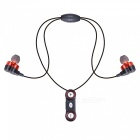 Universal Portable Bluetooth Headset Earphone w/ Intelligent Magnet Adsorption - Black + Red
