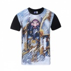Polyester Fiber Warcraft Patterned 3D Printing T-shirt tendance à grande taille pour hommes