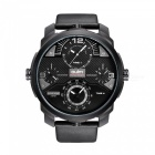 Oulm Full Steel Four Movement Oversize Case Herren Quarzuhr - Schwarz