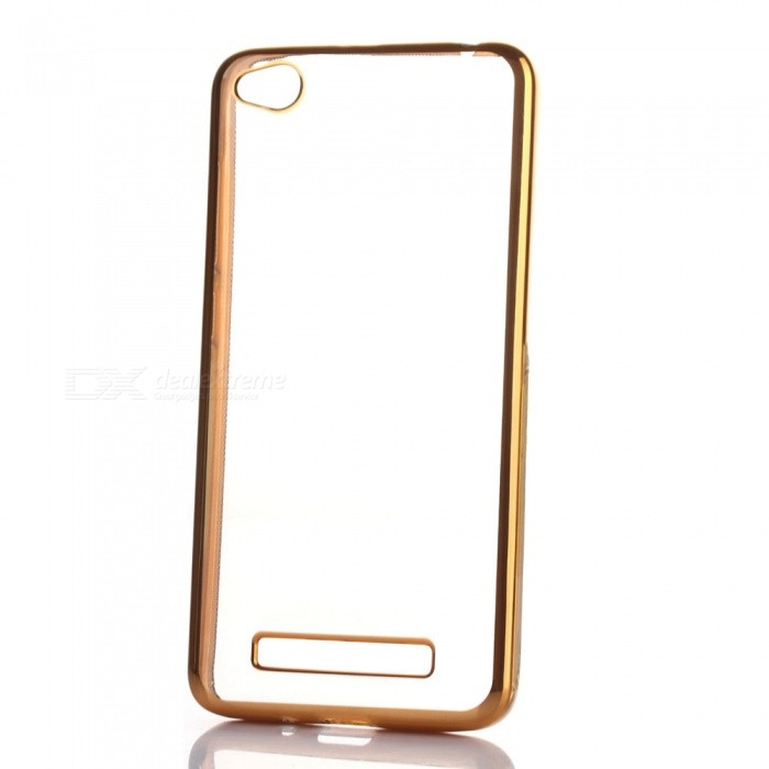 ASLING Ultra Transparent Soft TPU Case for Xiaomi Redmi 4A - GoldenTPU Cases<br>Form  ColorGoldenModelN/AMaterialTPUQuantity1 pieceShade Of ColorGoldCompatible ModelsRedmi 4APacking List1 x Protective Case<br>