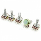 1Mohm 3 Pins Pots 6mm Split Shaft Single Turn Potentiometers (5pcs)