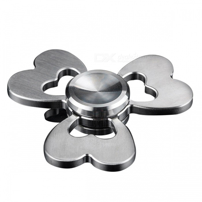 Clover Style Creative Funny Metal Spinner Fidget Toy - SilverFinger Toys<br>Form  ColorSilverMaterialStainless steelQuantity1 setPacking List1 x Hand spinner<br>