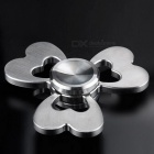 Clover Style Creative Funny Metal Spinner Fidget Toy - Silver