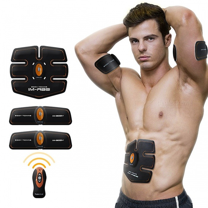 imate Unisex Smart Home Fitness Apparatus - Black + OrangeFitness Equipment<br>Form  ColorOrange + BlackModelIM-03Quantity1 DX.PCM.Model.AttributeModel.UnitMaterialN/AGenderUnisexPacking List3 x Fitness Apparatus Hosts 1 x Wireless Remote Controller1 x Abdomen Fit Pad2 x Body Fit Pads1 x Storage Bag2 x Bottom Boards1 x English User Manual4 x Button Batteries CR20321 x Supporting Strip<br>
