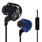 KZ ED12 HiFi Stereo Metal In-Ear Wired Earphone - Black (With Mic)