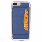 Multi-functional Loose-leaf Back Case for IPHONE 7 PLUS - Dark Blue