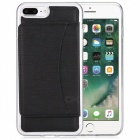 Multi-functional Loose-leaf Backpack Case for IPHONE 7 PLUS - Black
