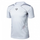 LUCKY SAILING LS04 Quick Dry Men's Short Sleeve T-shirt - White (XL)