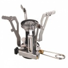 Outdoor Portable Ultra Mini Stainless Steel Gas Stove with a Case
