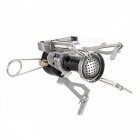 Outdoor Portable Ultra Mini Stainless Steel Gas Stove w/ Case - Silver